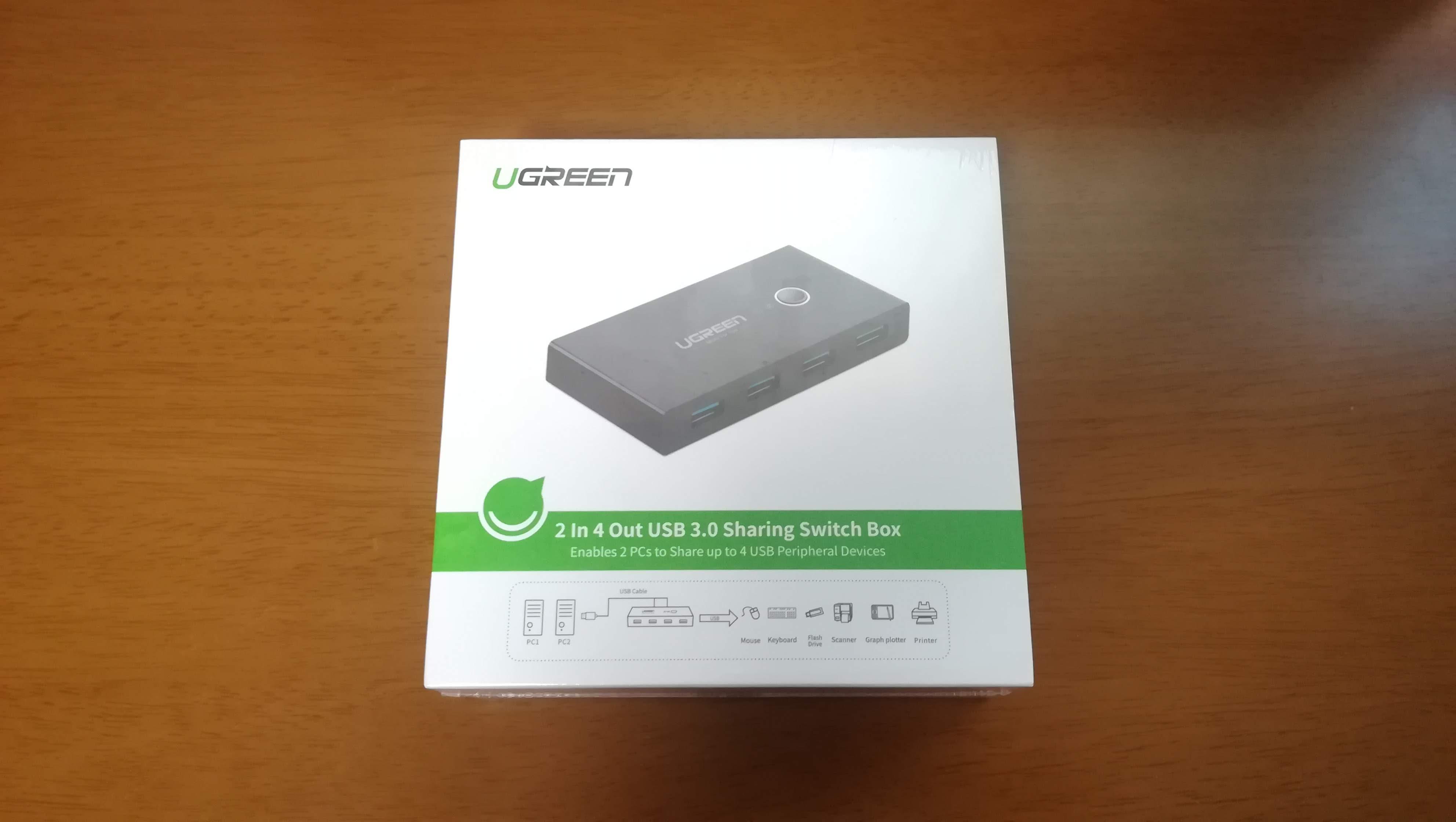 【UGREEN】USB切替器レビュー!PC2台間でキーボードもメモリもワンタッチで切り替え可能!【おすすめ】