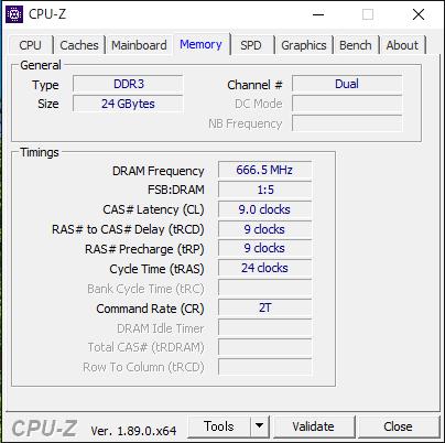 CPU-Zで規格を調べる