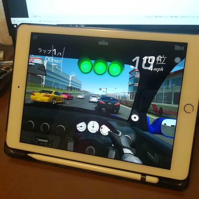 iPadでレースゲーム