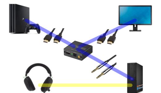 HDMI分離器を使ってPCとPS4(Switch)の音を一緒に聞く設定方法を紹介するよ